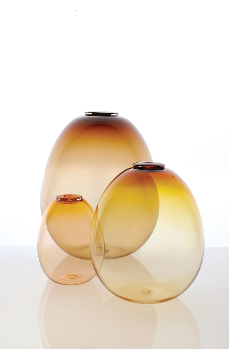 Egg Vases by Orbix Hot Glass