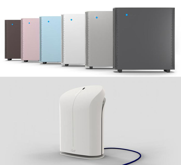 Air purifiers by Rabbit Air and Blueair at Dwell on Design 2013