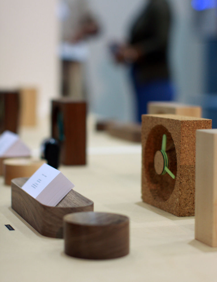 Okum Made wooden desk accessories at Dwell on Design 2013