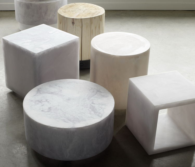 Round and Cube Stools by Sturdy Living