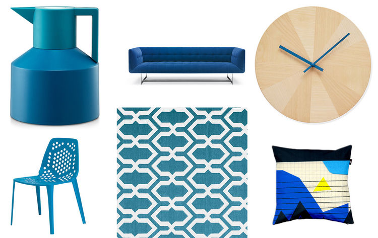Modern blue products for July 4th at Dwell