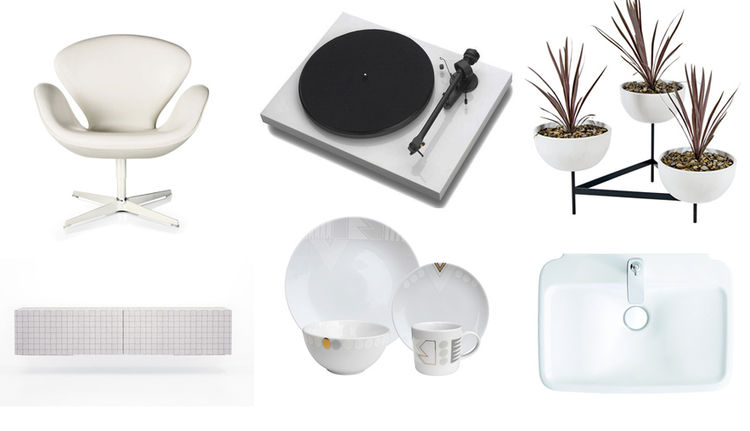 Modern white products for July 4th in Dwell archives
