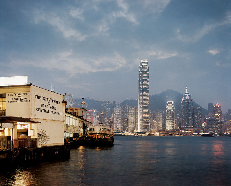 Hong Kong modern cityscape harbor