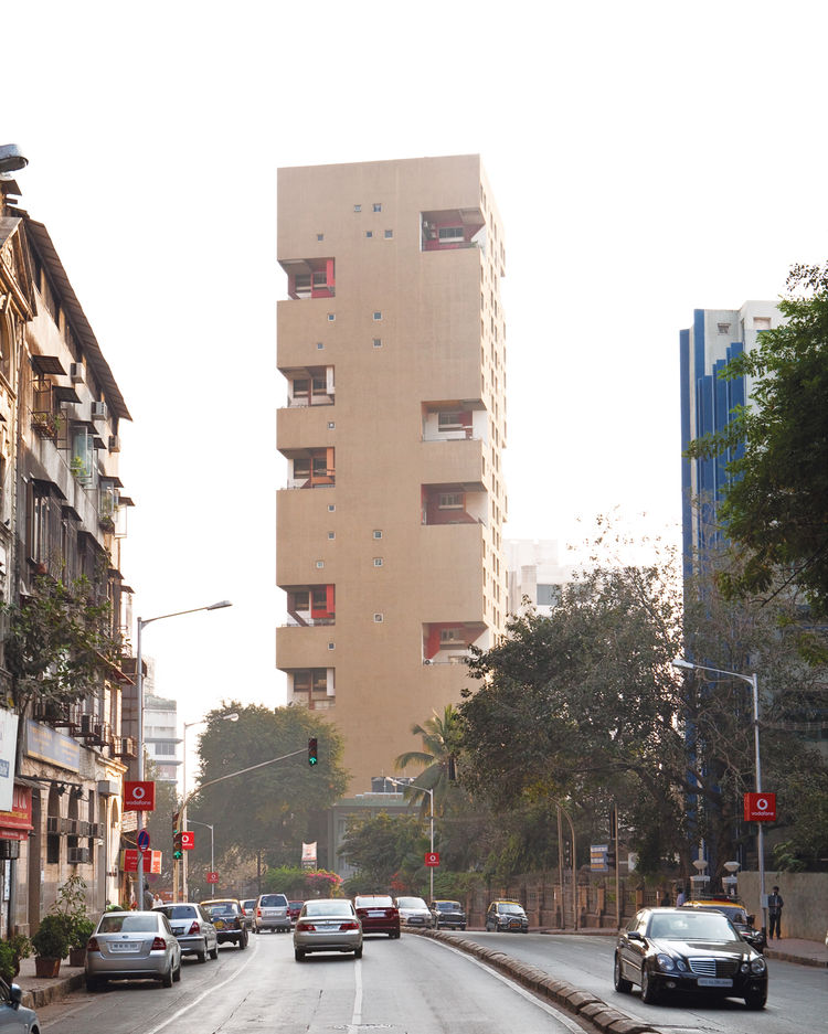 Correia modern apartment block Mumbai