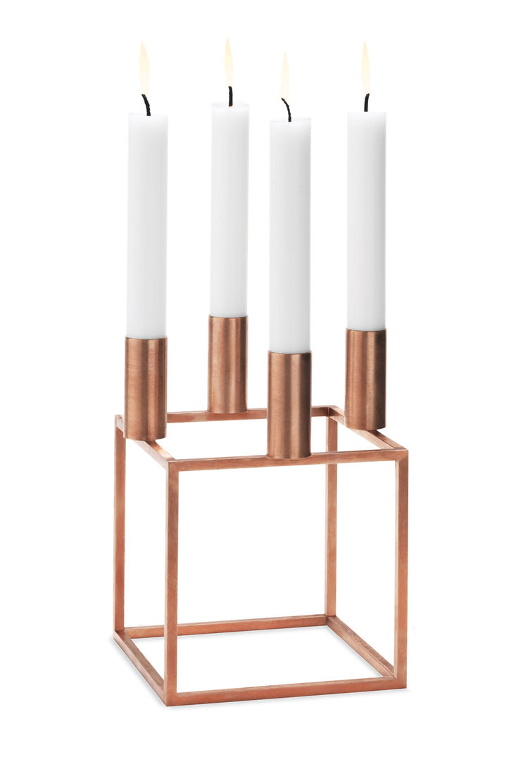 Kubus 4 in Copper by Mogens Lassen