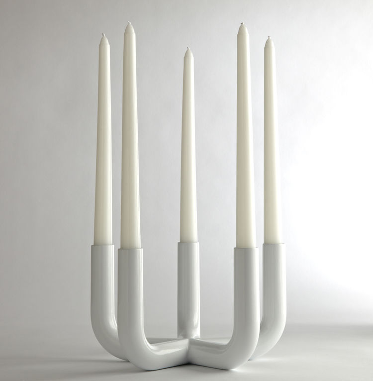 Five candle powder coated aluminum candelabra by Conran at JCPenney