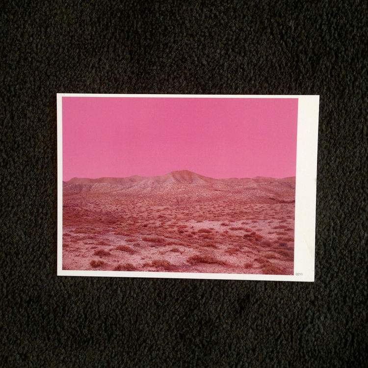 Photo promo of a pink landscape by photographer Dwight Eschliman