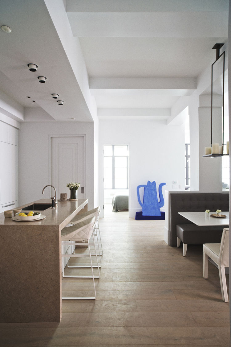 Wide plank wood flooring by Piet Boon for Solidfloors