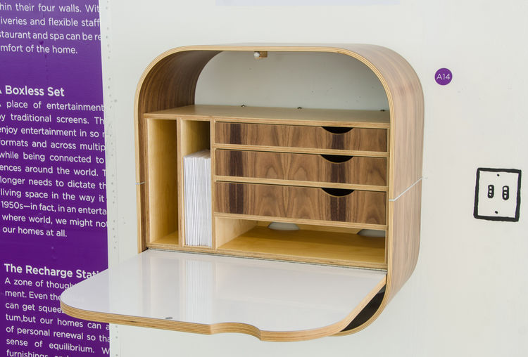 Vurv wall-mounted desk at PSFK Future of Home Living