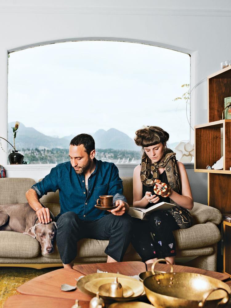 Designer Omer Arbel at home in Vancouver