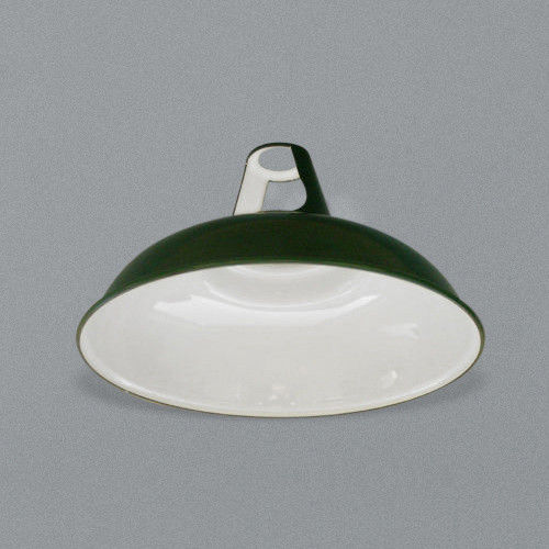 Classic green enamel industrial lampshade