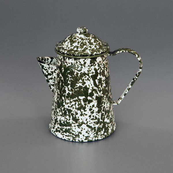 Marbled enamel stove top coffee pot