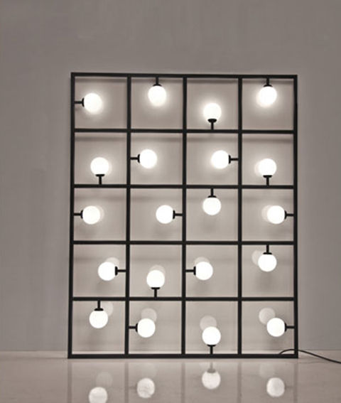 Squares floor wall lamp by Atelier Areti