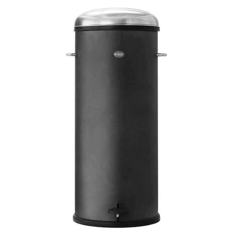 Classic pedal bin in black by Vipp