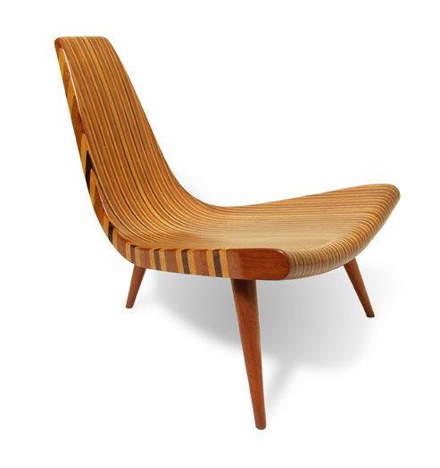 Three legged chair by Joaquim Tenreiro