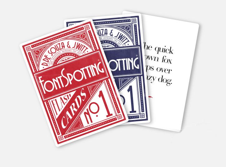 Fontspotting flashcard game