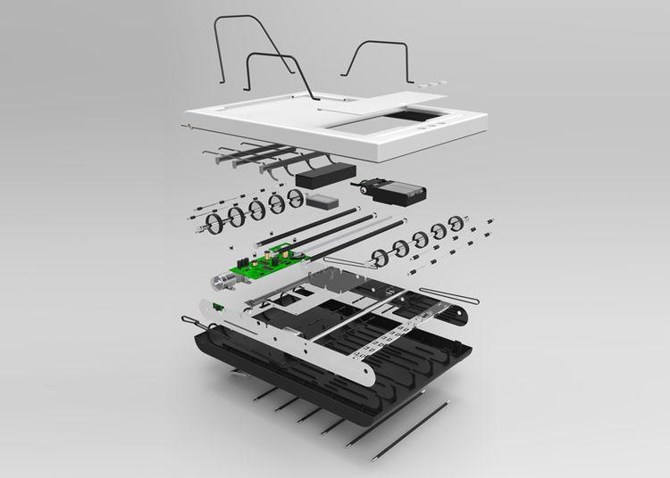 Stack printer by Muji Yamamoto