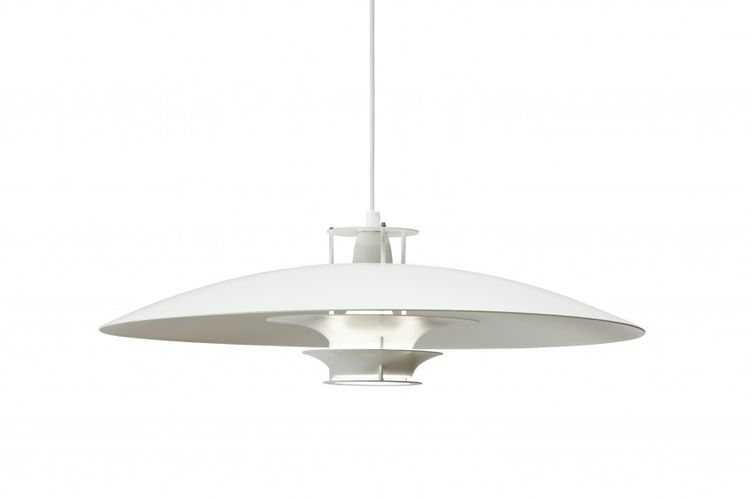 white pendant lamp by artek