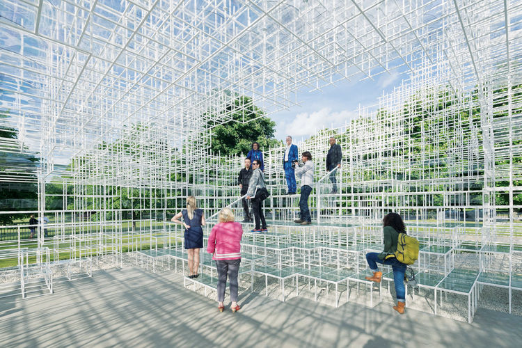 2013 Serpentine Gallery Pavilion in London by Sou Fujimoto