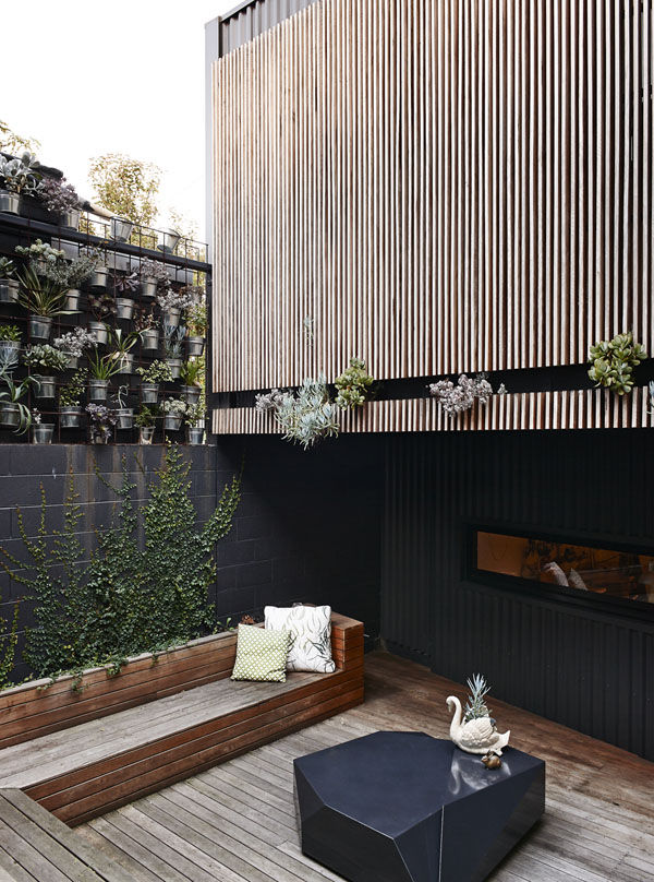 courtyard in modern australian home