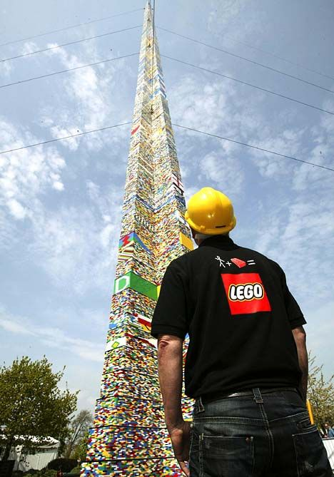 50th anniversary of Lego - tallest lego tower - 2008