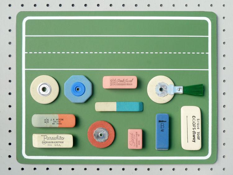 Present & Correct vintage pencil erasers school office desktop supplies