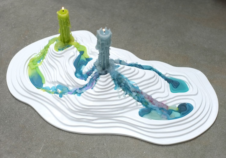 Posada topographic candle holder