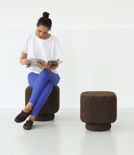 Bole cork stool by Tania De Cruz