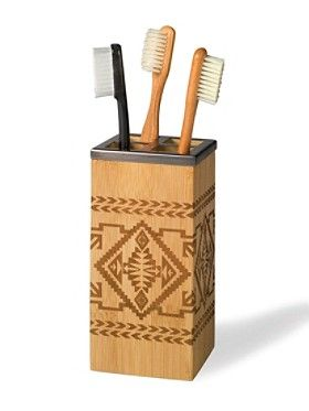 BAMBOO BASKET TOOTHBRUSH HOLDER