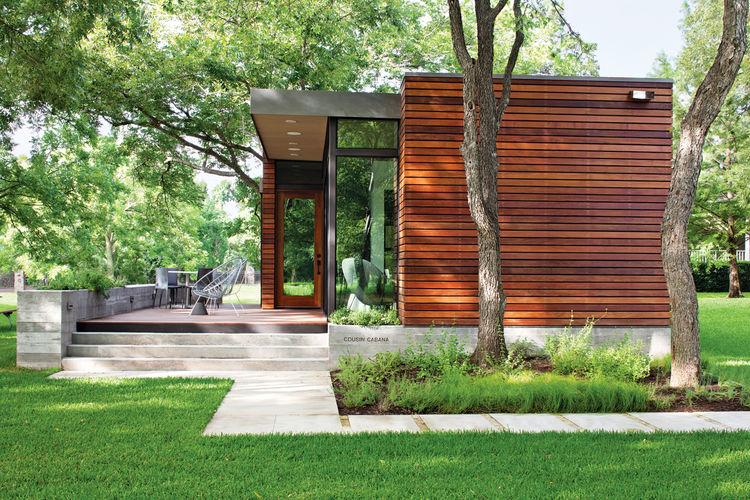 wood clad exterior in Austin