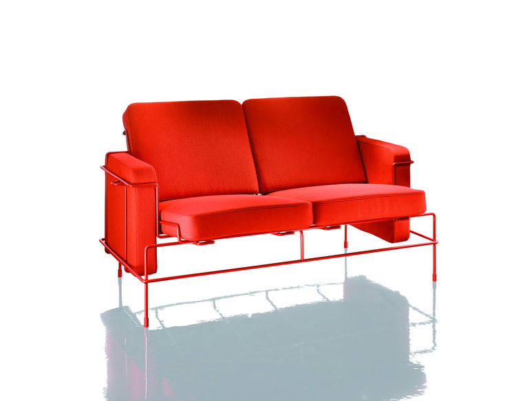 Magis Traffic sofa upholstered wireframe by Konstantin Grcic Salone del Mobile 2013