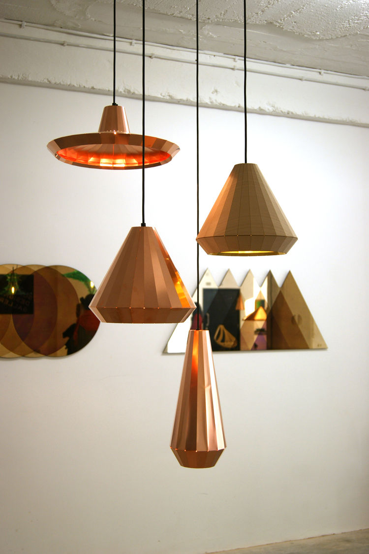 David Derksen TENT London Design Festival copper pendant lighting trends 2013