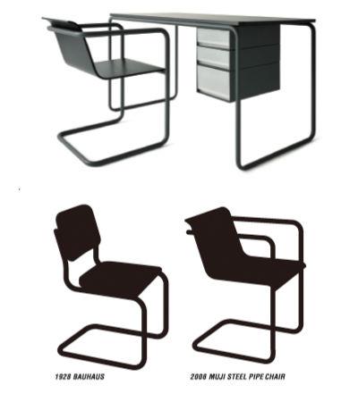 Muji manufactured by Thonet steel frame furniture