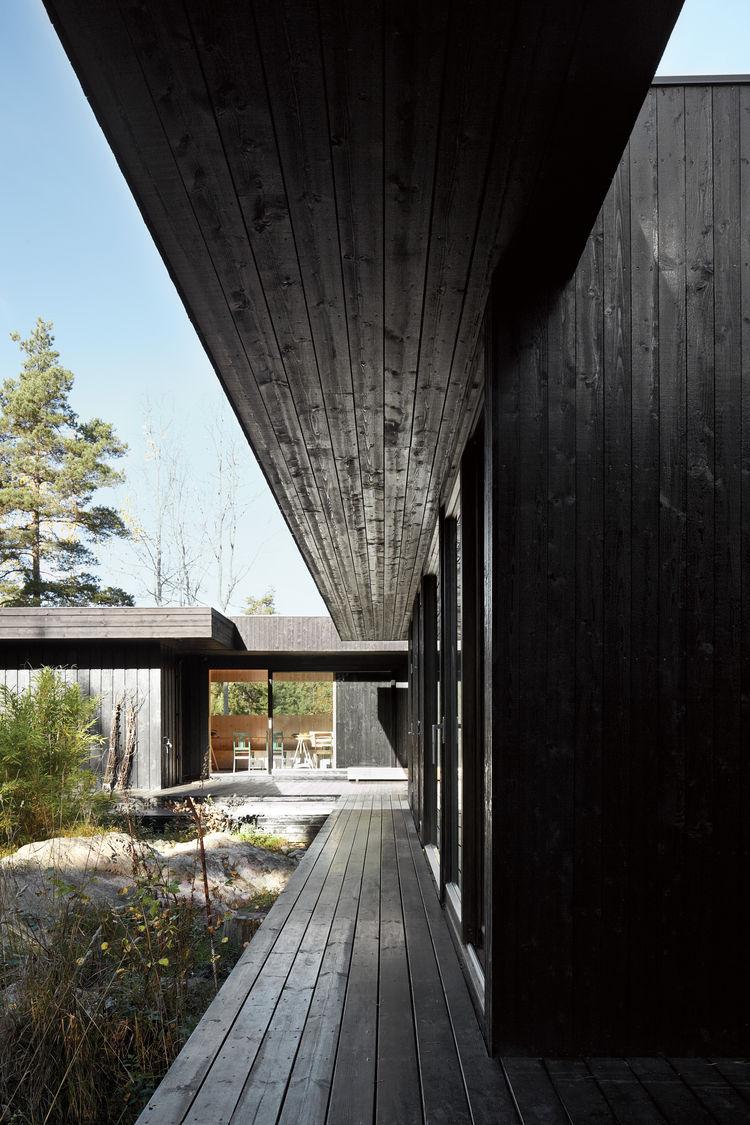 compact cabin exterior