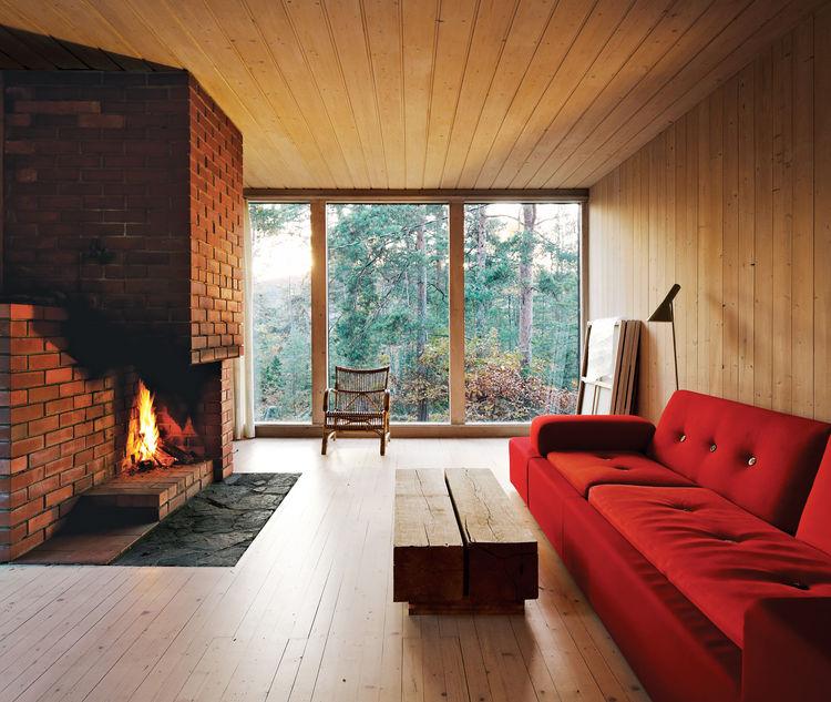 compact cabin interior