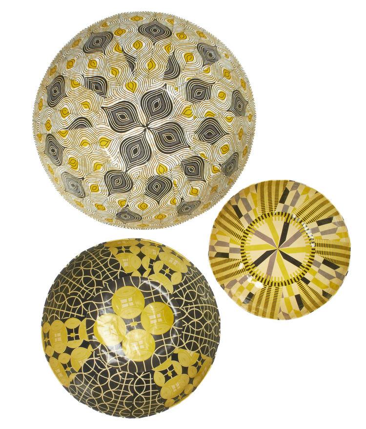 pattern yellow bowl kitchenware Fab x South Africa Wola Nani artisan