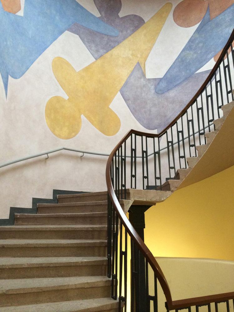 touring the weimar bauhaus campus murals interior