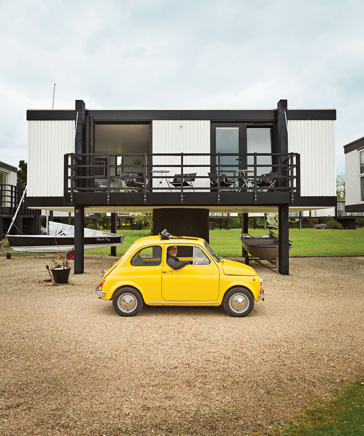 elevated deckhouse in england exterior