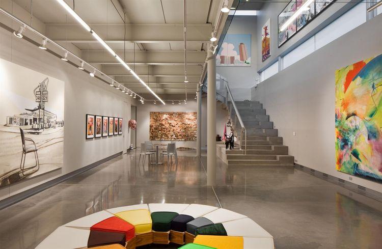 art gallery in a modern home