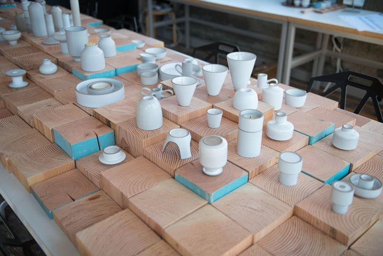 heath ceramics interior studio table