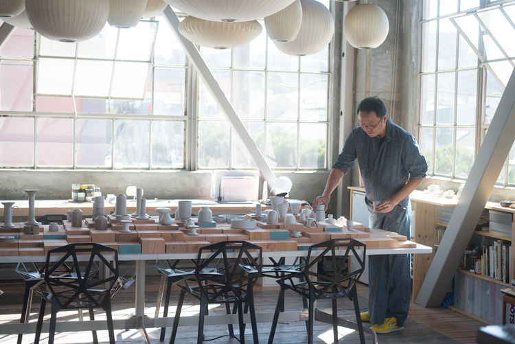 heath ceramics studio interior