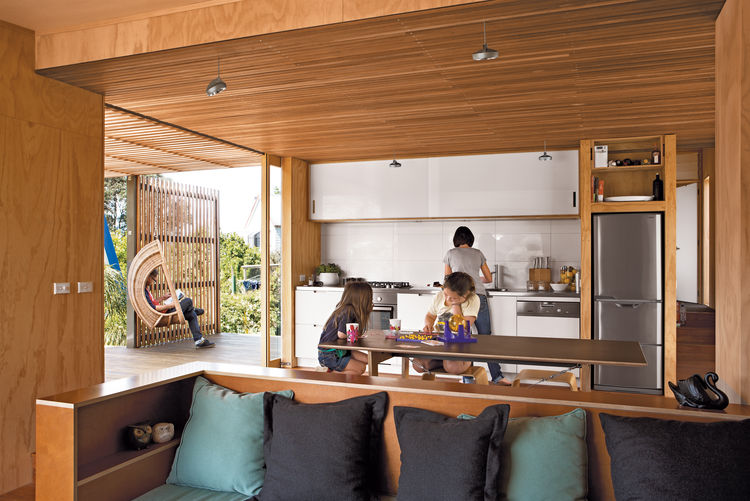 compact prefab new zealand interior indoor outdoor kitchen