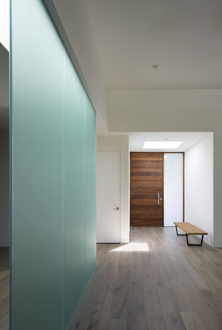 modern passive house with mimimalist living room