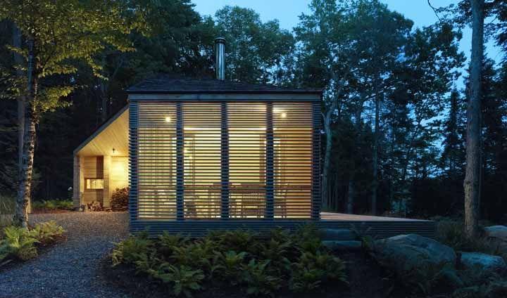 Cedar boards slats modern cabin Superkul Canada