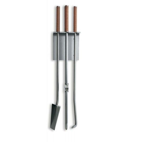 PETER MALY WALL-MOUNTED FIREPLACE TOOLS