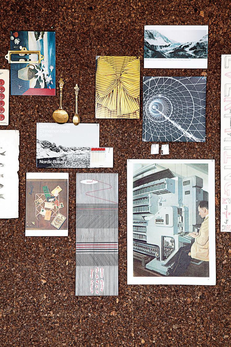 contemporary textile designer Eleanor Pritchard mood board