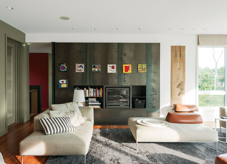 Fishers Island prefab interior living room