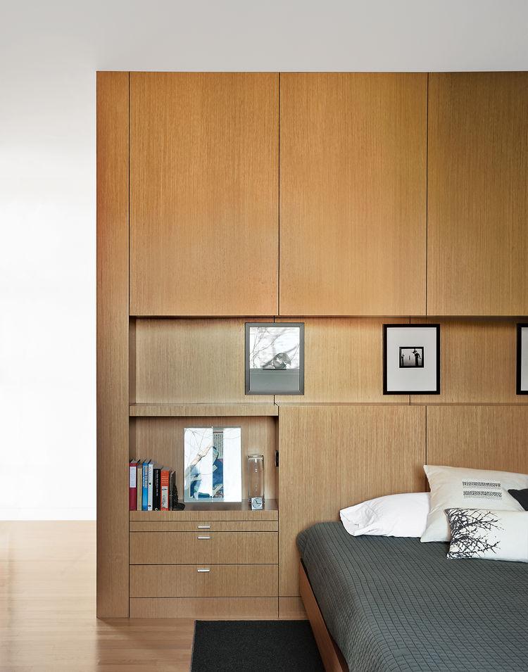 brick-clad home renovation in Chicago interior bedroom