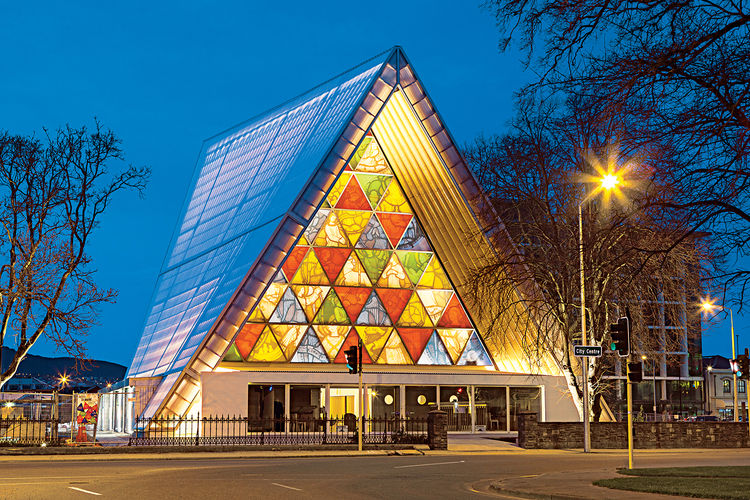 Shigeru Ban replacement cathedral design