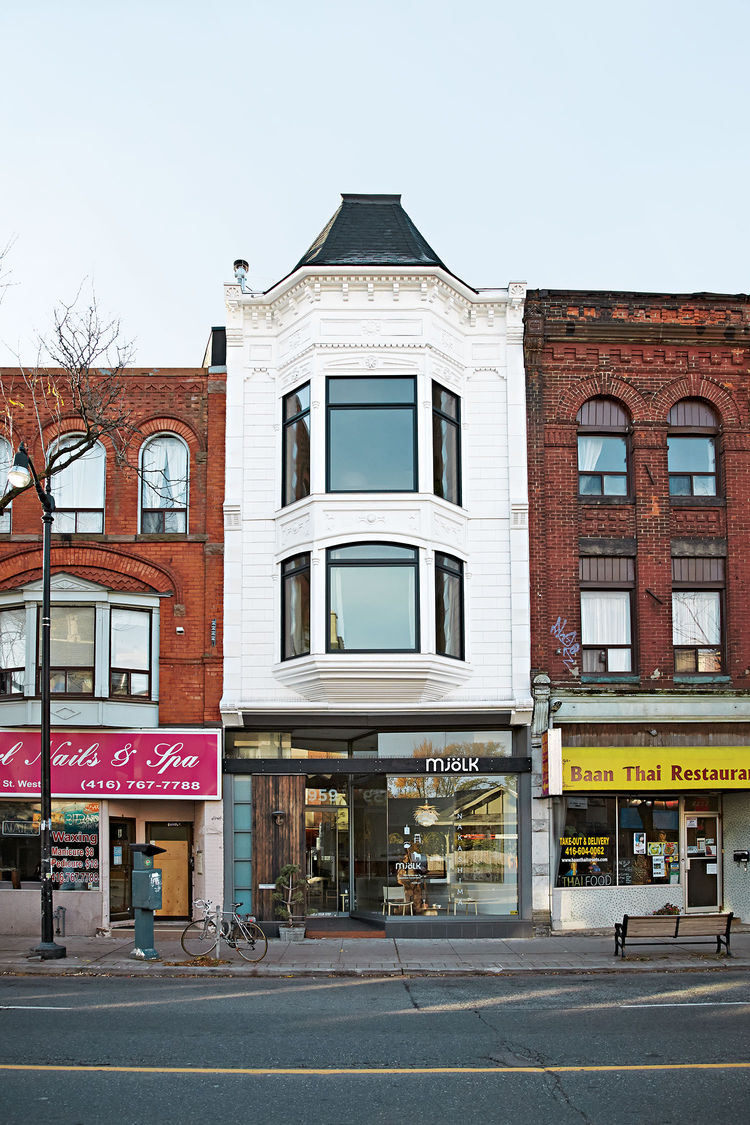 mjolk boutique owners renovate their Toronto dwelling exterior